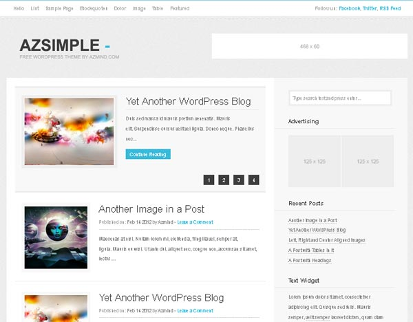 15 Free WordPress Themes For Blogs - 2013