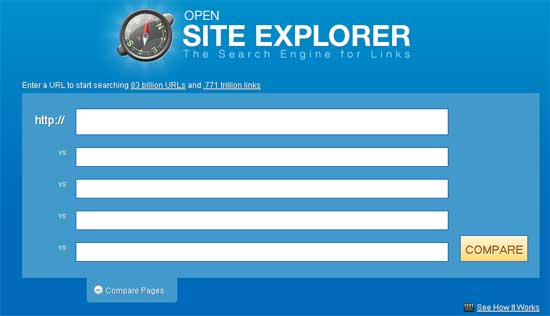 opensiteexplorer backlink checker