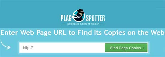 plagspotter duplicate content finder