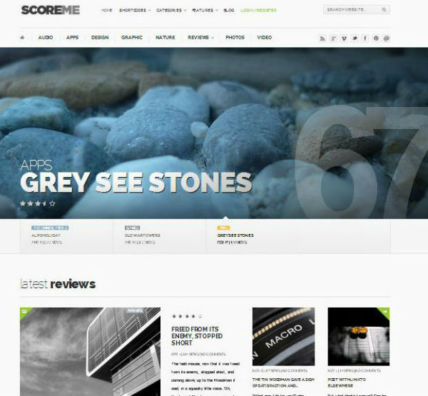 Scoreme Magazine WordPress theme