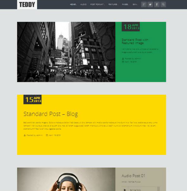 Teddy Responsive Blog Theme