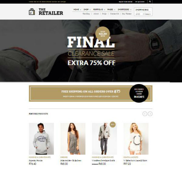The Retailer Shoping Theme